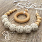 Crochet Bead 'Nothing but Naturals' Set Teething Necklace | Nursing Necklace